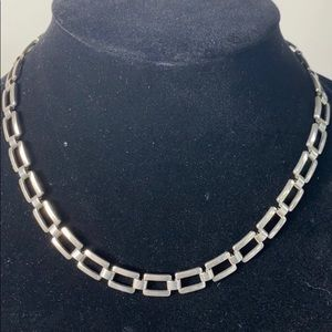 Silver Link Necklace, Minimalist, Very On Trend